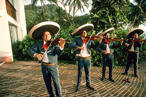 Mariachi Band Performing with Violins ca. July 1991 Puerto Vallarta, Mexico